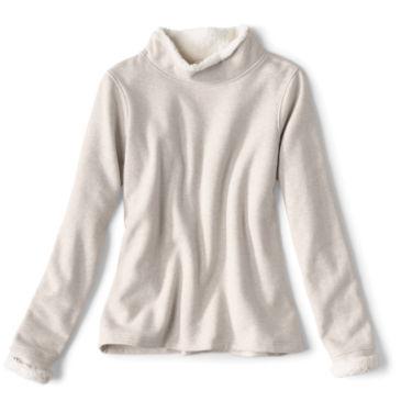 Mockneck Sherpa-Lined Sweatshirt -