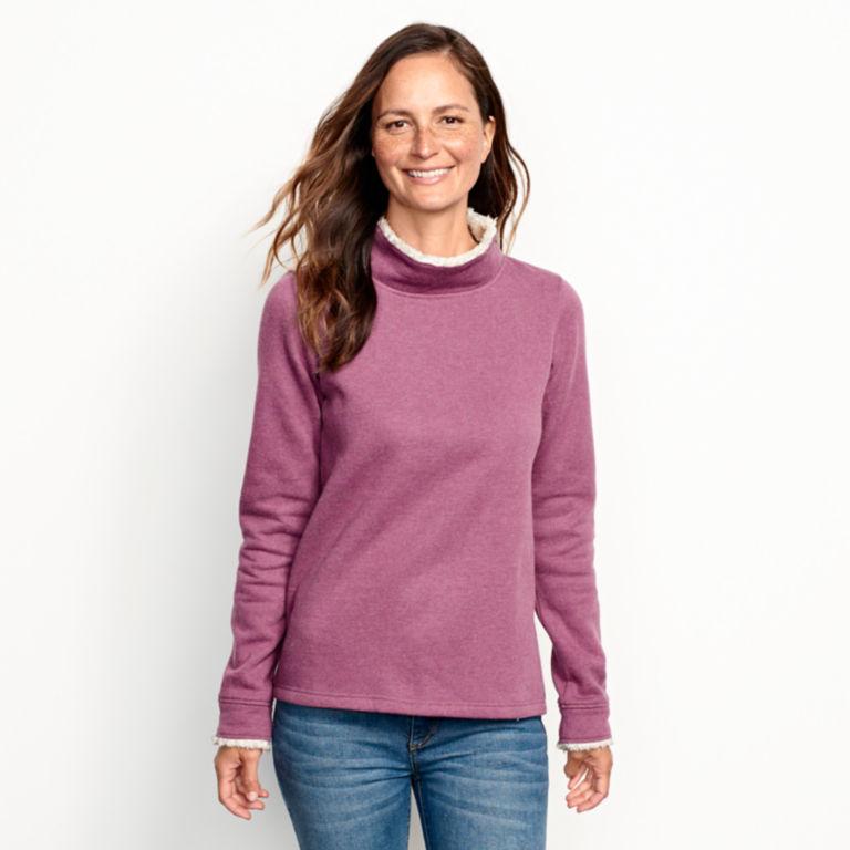Mockneck Sherpa-Lined Sweatshirt -  image number 2