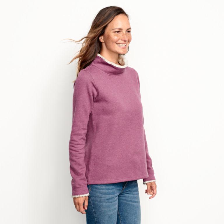 Mockneck Sherpa-Lined Sweatshirt -  image number 3