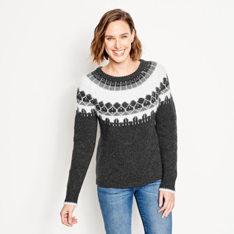 Luxe Fair Isle Crewneck Sweater -  image number 0