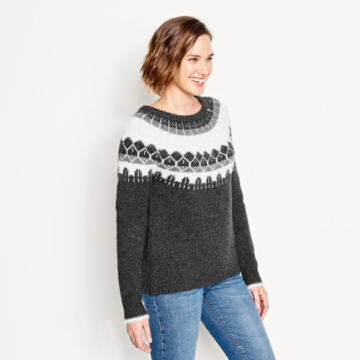 Luxe Fair Isle Crewneck Sweater -  image number 1