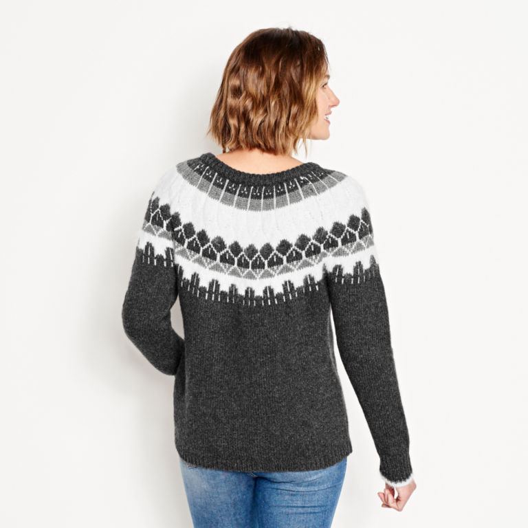 Luxe Fair Isle Crewneck Sweater -  image number 3