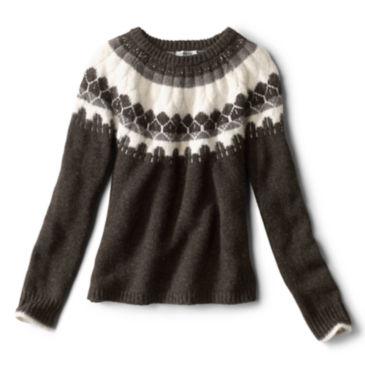 Luxe Fair Isle Crewneck Sweater -