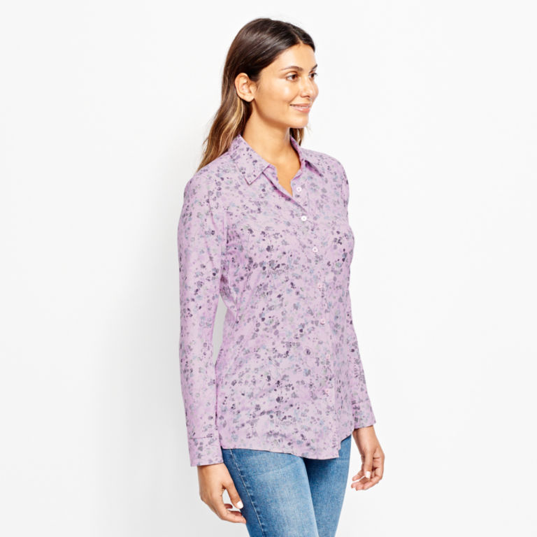 Long-Sleeved Everyday Silk Shirt -  image number 1