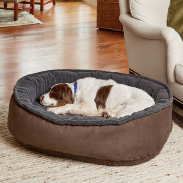 Memory Foam Wraparound Dog Bed with Fleece -  image number 0