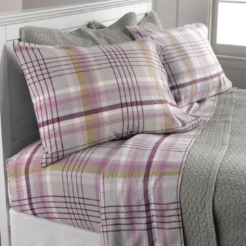 Highland Plaid Flannel Sheet Set, Duvet Cover, and Sham / Twin sheet set -  image number 0