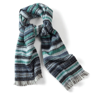 Striped Jacquard Muffler - BLUE image number 0