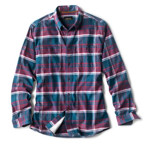 A blue plaid shirt