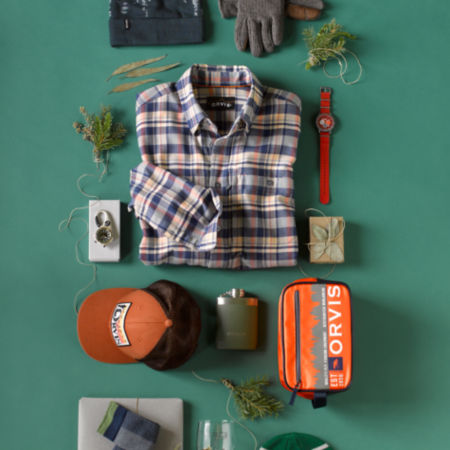 Assortment of personalized Orvis products