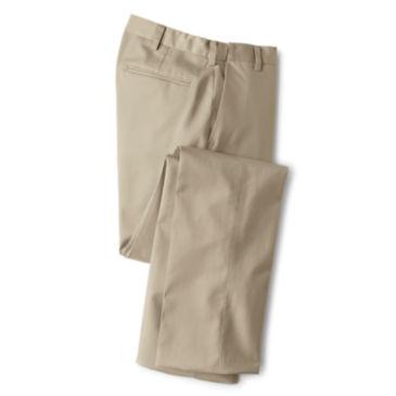Wrinkle-Free Comfort-Waist Stretch Chinos Plain -