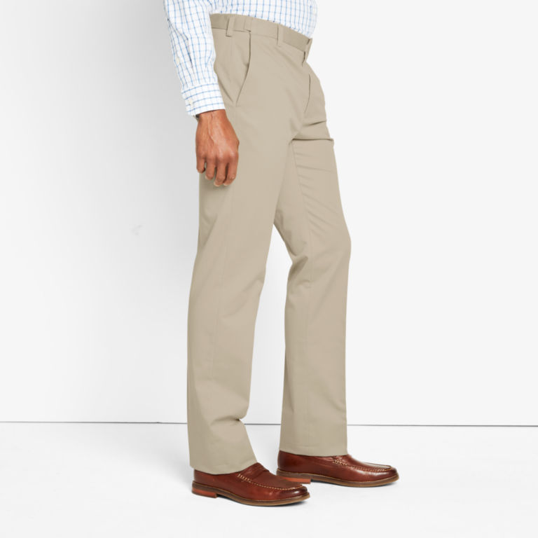 Wrinkle-Free Stretch Chinos Pleated -  image number 2
