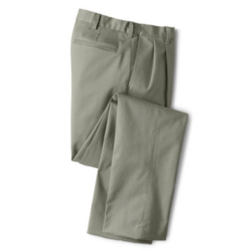 Wrinkle-Free Comfort-Waist Stretch Cotton Chinos Pleated -  image number 0