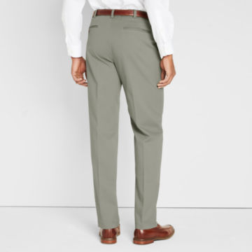 Wrinkle-Free Comfort-Waist Stretch Cotton Chinos Pleated -  image number 3