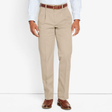 Wrinkle-Free Cotton Stretch Chinos Pleated -