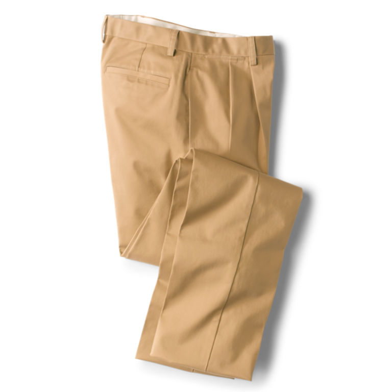 Wrinkle-Free Cotton Stretch Chinos Pleated -  image number 0