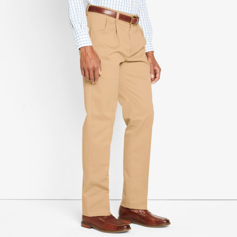 Wrinkle-Free Cotton Stretch Chinos Pleated -  image number 2