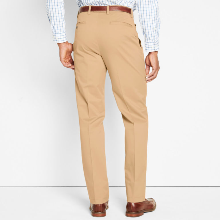 Wrinkle-Free Cotton Stretch Chinos Pleated -  image number 3