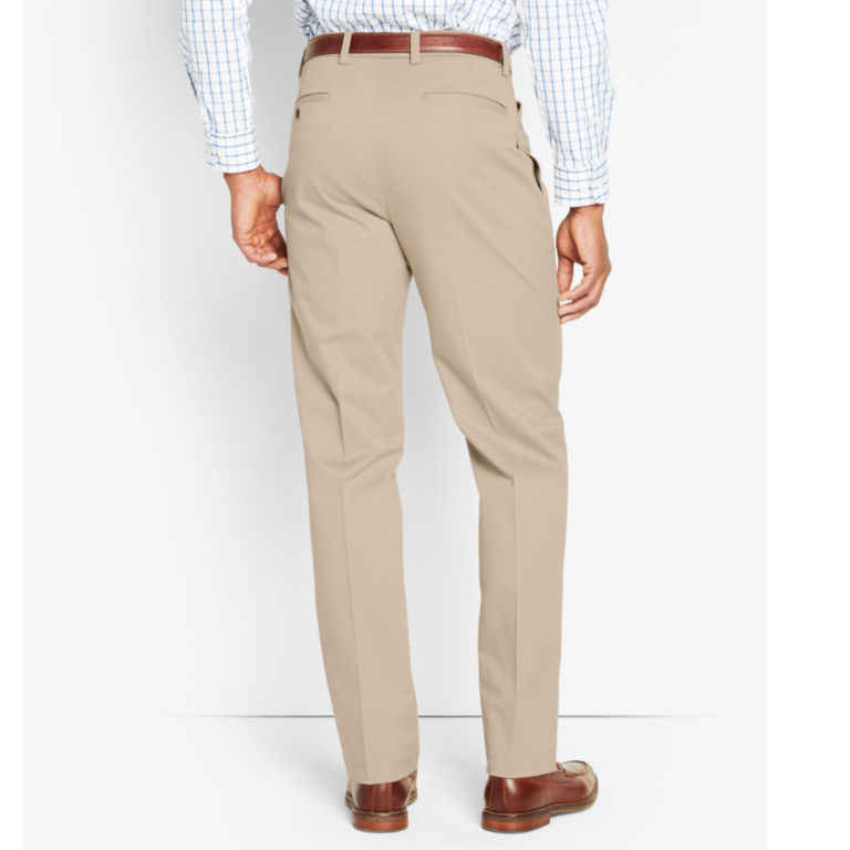 Wrinkle-Free Cotton Stretch Chinos Pleated - KHAKI image number 2