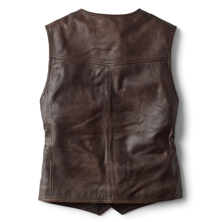 Powderhorn Leather Vest - DARK TAN image number 2