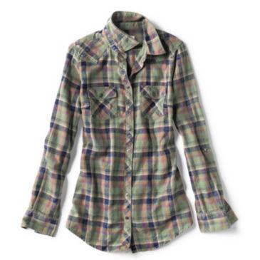 Washed Indigo Plaid Shirt -