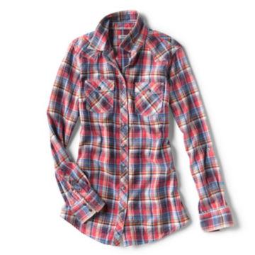 Washed Indigo Plaid Shirt -  image number 4