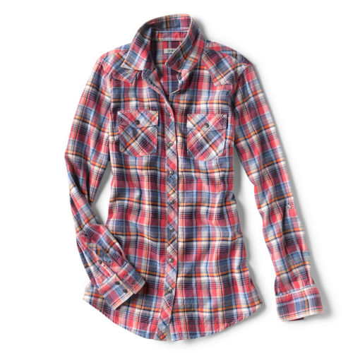 indigo plaid shirt