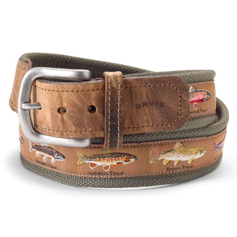 Pontoon Trout Story Belt - OLIVE image number 0