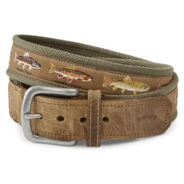 Pontoon Trout Story Belt - OLIVE image number 1