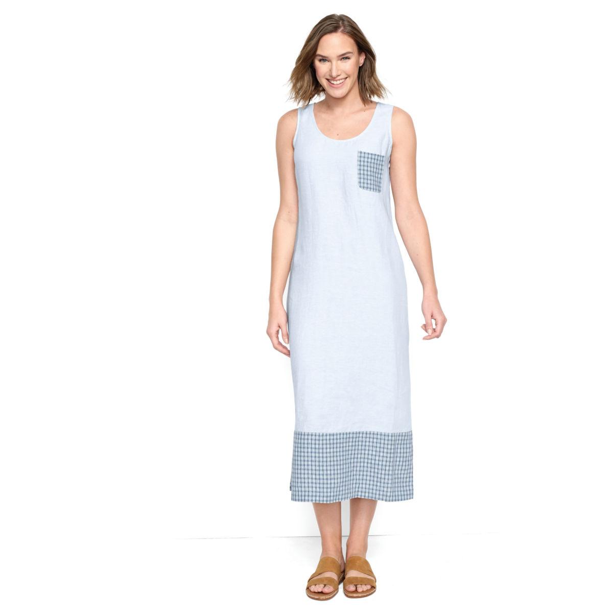 Linen Tank Dress - BLUE WASHimage number 0