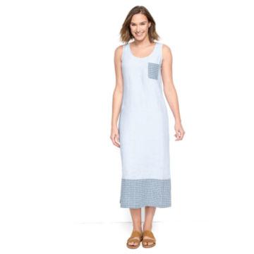 Linen Tank Dress - BLUE WASH image number 0
