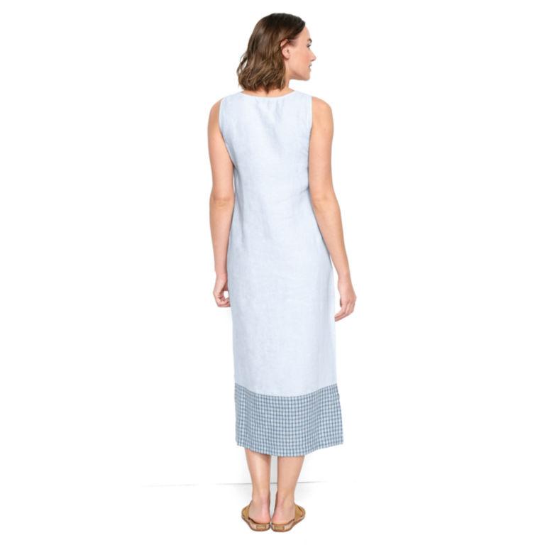 Linen Tank Dress - BLUE WASH image number 2