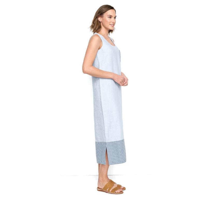 Linen Tank Dress - BLUE WASH image number 1