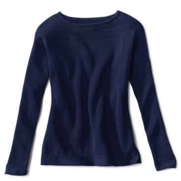 Cotton/Cashmere Boatneck Sweater -