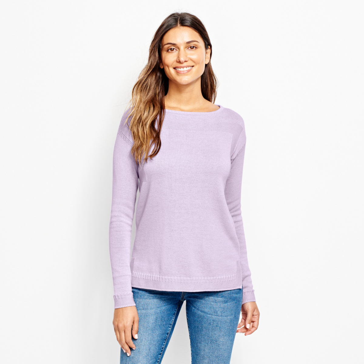 Cotton/Cashmere Boatneck Sweater - image number 0