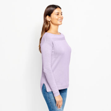 Cotton/Cashmere Boatneck Sweater -  image number 1