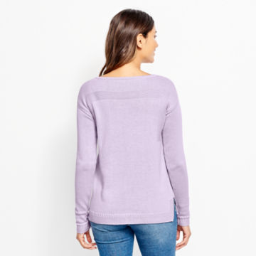 Cotton/Cashmere Boatneck Sweater -  image number 2
