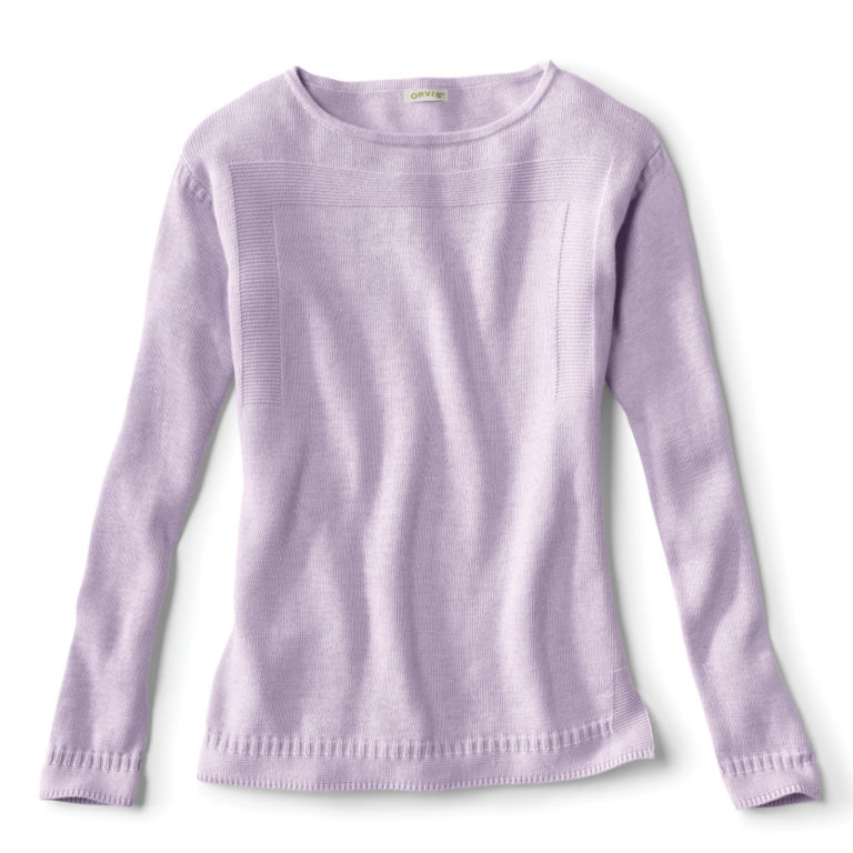 Cotton/Cashmere Boatneck Sweater -  image number 5