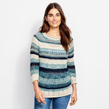 Textured Striped Sweater -  image number 2