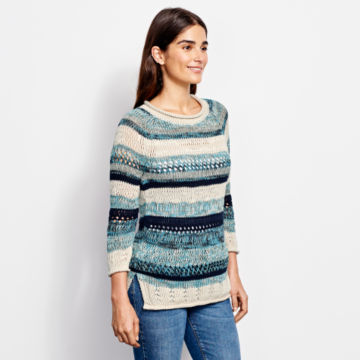 Textured Striped Sweater -  image number 3