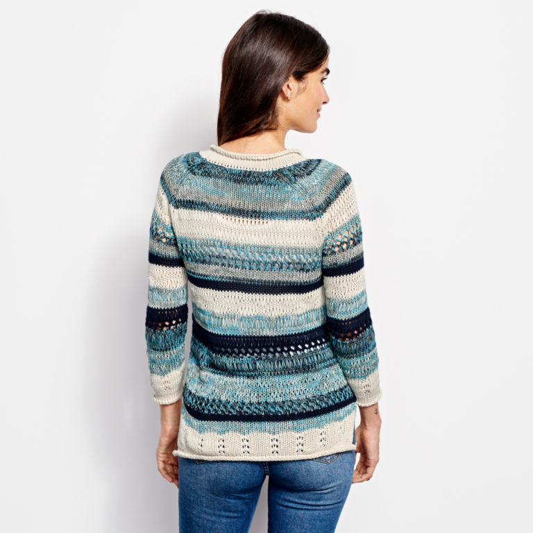 Textured Striped Sweater -  image number 4
