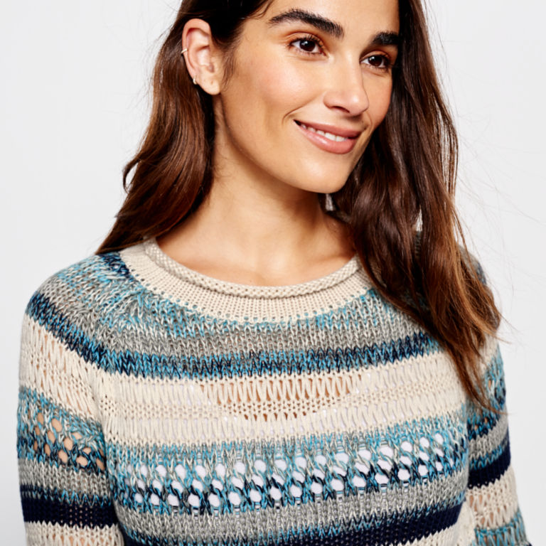 Textured Striped Sweater -  image number 5