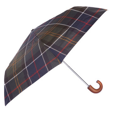 Barbour® Tartan Mini Umbrella - OLIVE image number 0