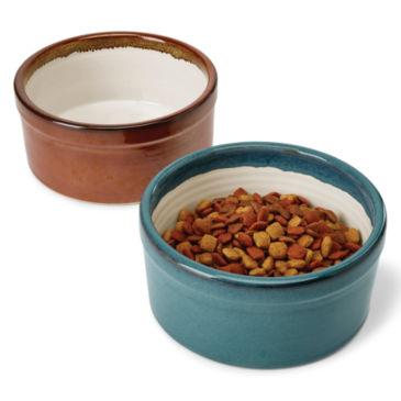 Handmade Stoneware Dog Bowl -