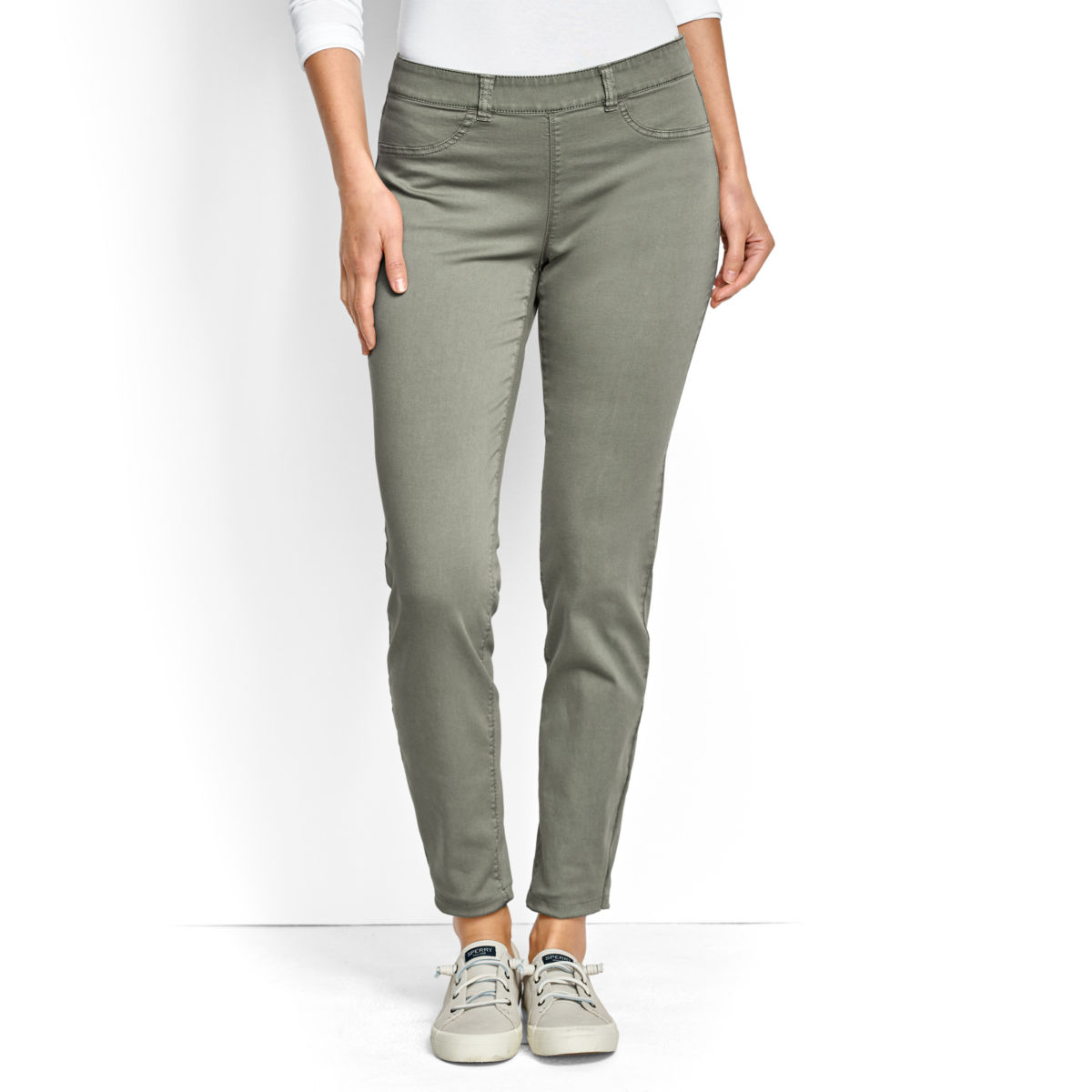 All-Day Stretch Twill Ankle Pants - image number 0
