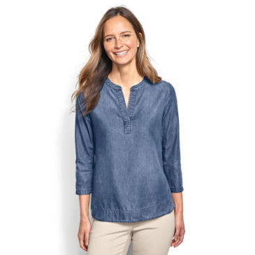 Cotton/Tencel® Popover Shirt -