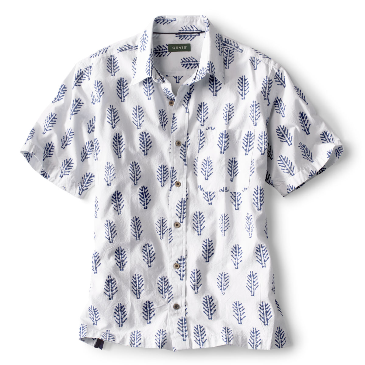 Batik Print Short-Sleeved Shirt - image number 0