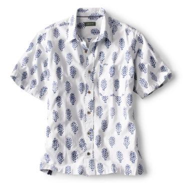Batik Print Short-Sleeved Shirt -