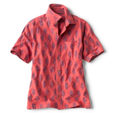 Batik Print Short-Sleeved Shirt -