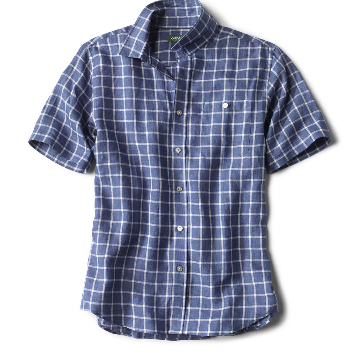 Flyweight Linen Shirt - WHITE/BLUEimage number 0