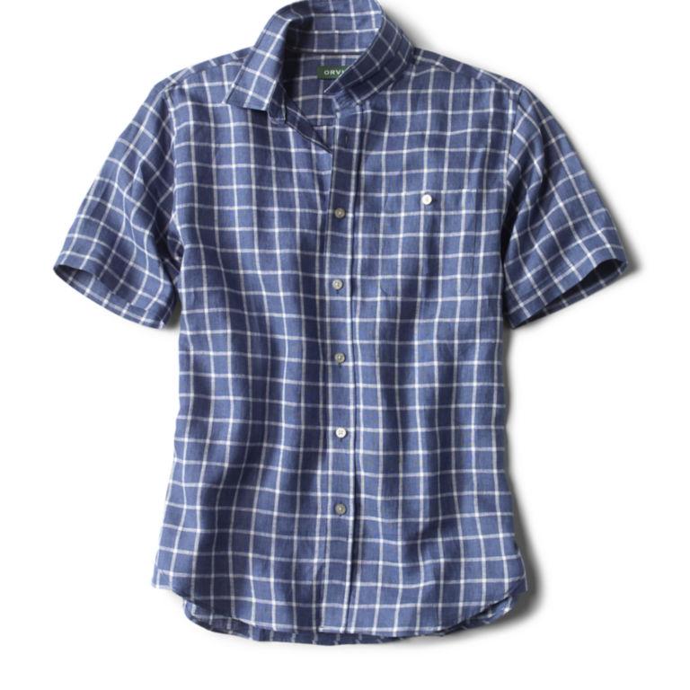 Flyweight Linen Shirt - WHITE/BLUE image number 0